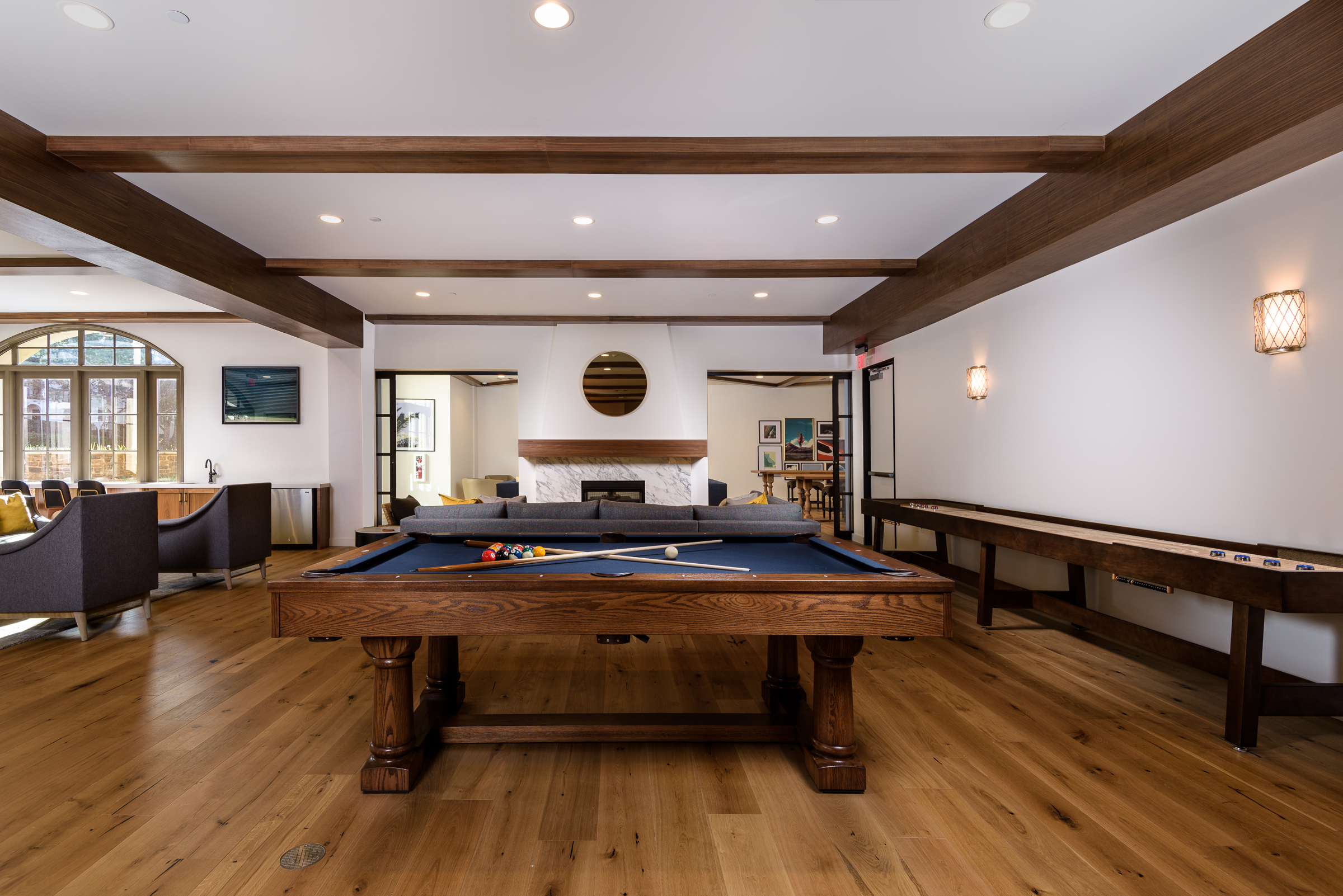 Pool table, condominium community center